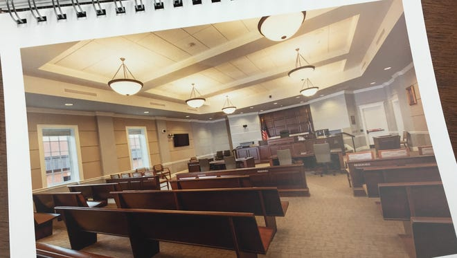 A page from Moseley Architects' proposal to design a courts complex for Augusta County. The company has designed more than 20 courts around the state.