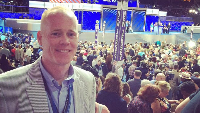 James Keady, the guy Chris Christie told to 'sit down and shut up,' is a New Jersey delegate at the DNC.
