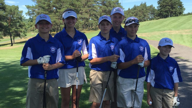 All-Star team members of the Binghamton affiliate competed at the USGLL National Championship, Aug. 8-11 at Vestal Hills Country Club. Left to right: Joseph Miller, Amanda Bucko, Michael Bucko, Keegan Stanbro, Ryan Locke and Liam Foran.