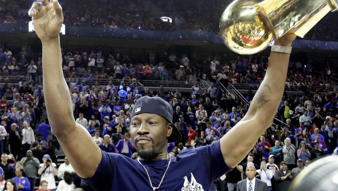 Former Pistons great Ben Wallace will drive the pace car for Sunday's NASCAR race in Brooklyn, Mich.
