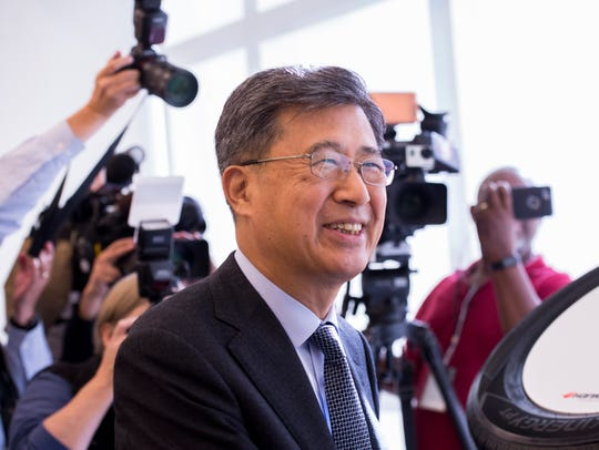 Seung Hwa Suh, global CEO of Hankook Tire, smiles during