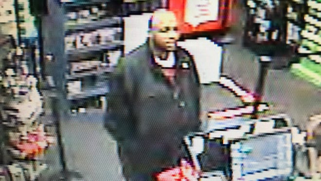 The suspect Dickson Police are seeking who used counterfeit bills at GameStop, according to police.