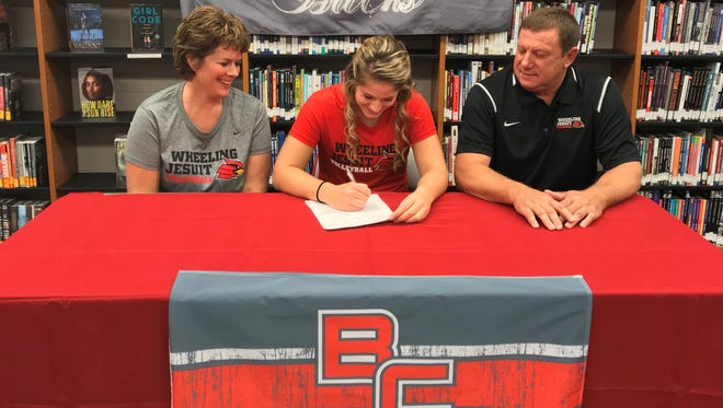 Jenna Karl officially commits to Wheeling Jesuit University to play volleyball.