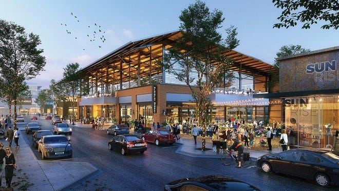 A rendering of the District 2243 project that was rejected by the Leander City Council.