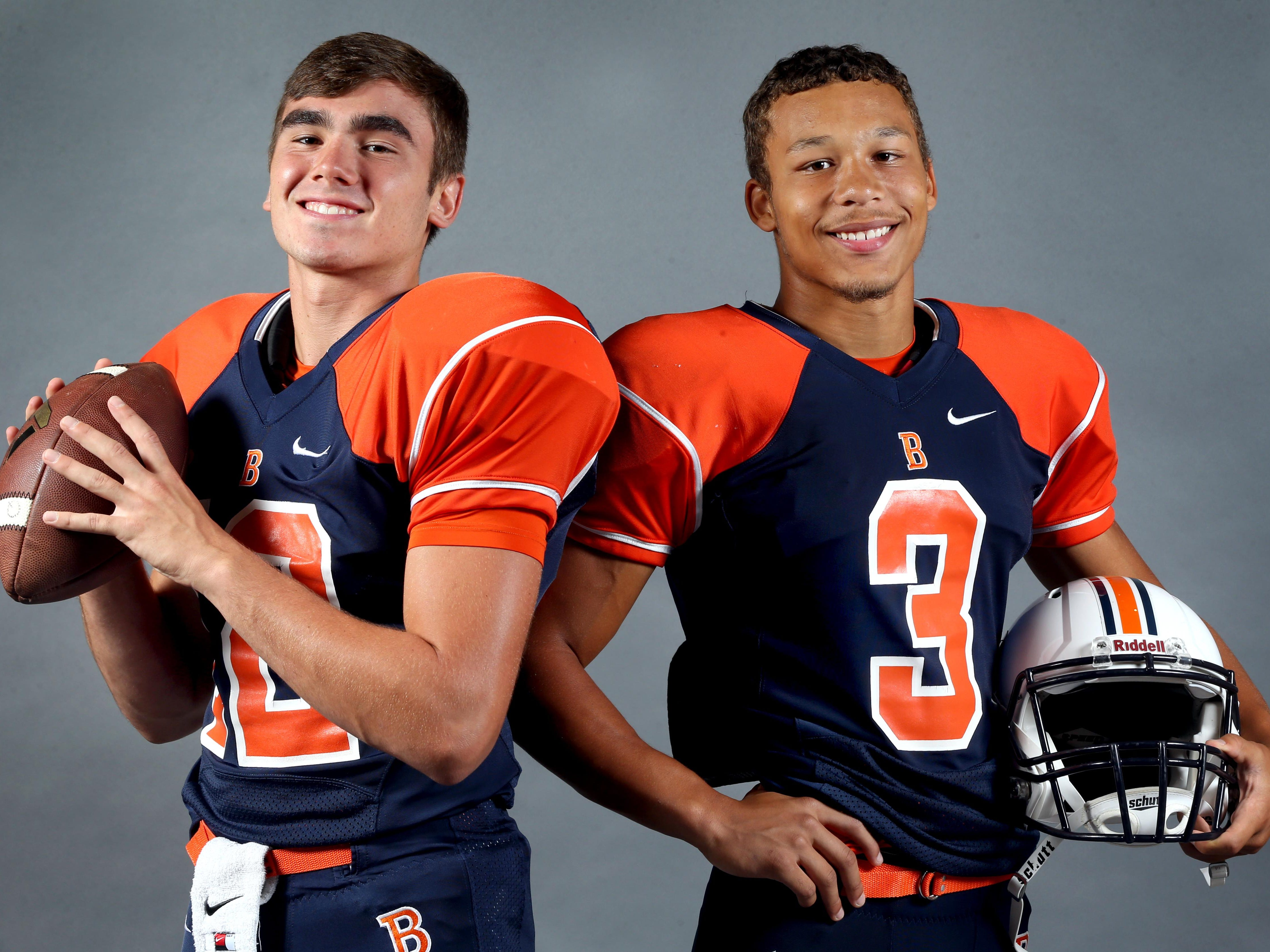 Blackman's Miller Armstrong, left, and Taeler Dowdy.