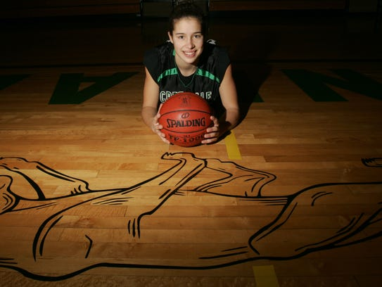 Greendale High School's Ashley Imperiale helped the