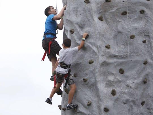 Free rock climbing walls will be available at Bass