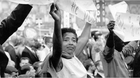 Victoria Gray marches at the 1964 Democratic National Convention in Atlantic City, New Jersey.