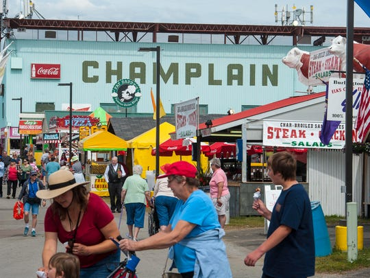 There are a lot of options when it comes to eating at the Champlain Valley Fair in Essex, seen on Tuesday, August 29, 2017, and there are four new food vendors this year.