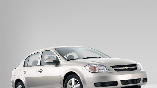 General Motors recalled 2005 - 07 Chevrolet Cobalt (2005 shown) for faulty ignition switches that can shut off airbags, but didn't recall even more Chevy, Pontiac and Saturn models it said had the same switch.