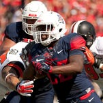 Oct 10, 2015: Arizona Wildcats running back Nick Wilson (28) runs the ball during the first quarter against the Oregon State Beavers at Arizona Stadium.
