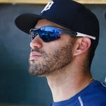 Tigers' J.D. Martinez (elbow) takes batting practice