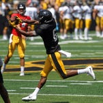 Iowa football offense: Unproven wideouts get ample opportunity at Kids Day,  Young shines