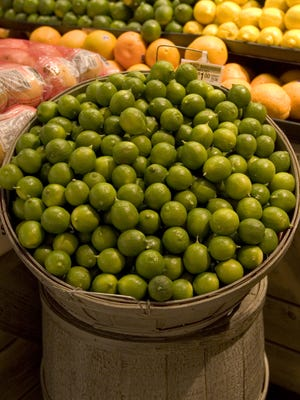 Key limes are a key ingredient in today's recipe, which comes to us from reader Nancy Slusser.