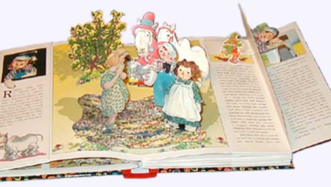 Pop-up books reach out to readers.