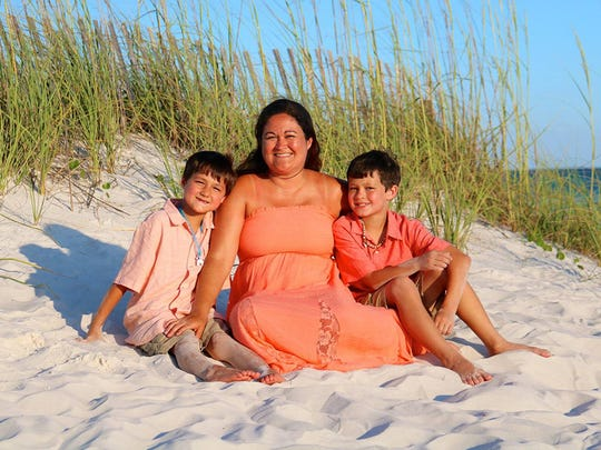 Fairview resident and U.S. Army veteran Tara Cronk-Bowman with her sons, Jayden and Tayvin.