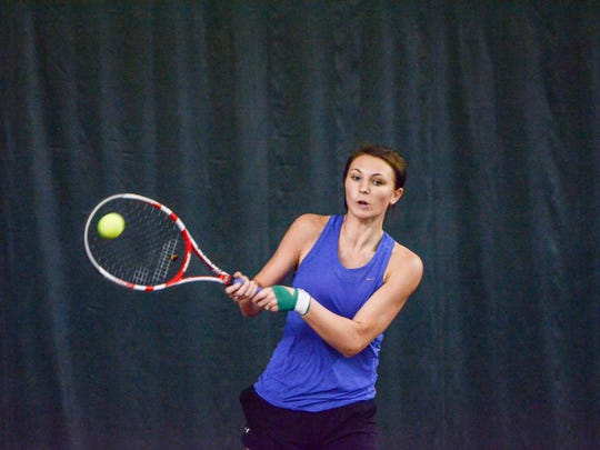 McConnellsburg's Bronwyne Mellott took home her fourth straight gold medal at the District 5 Girls Tennis Championships on Monday afternoon.