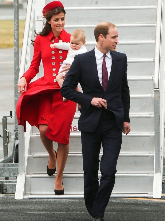Duchess Kate battles the wind