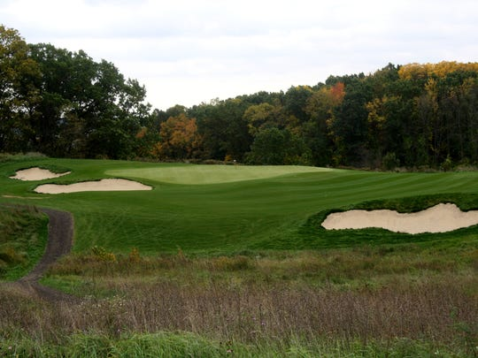 The par-three No. 11 at Stoatin Brae in Augusta, Mich.