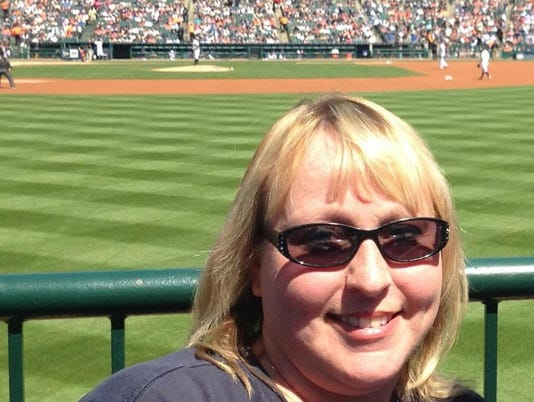 Shelly Rathbun at Tigers game