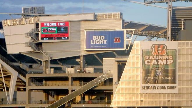 Signage on Paul Brown Stadium