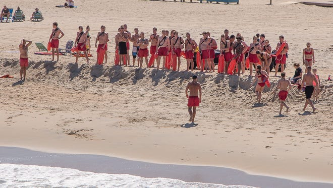 Thousands come to Ocean City for Memorial Day weekend to celebrate, have fun and enjoy the beach. In this file photo, the Ocean City Beach Patrol is getting ready for Saturday.