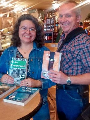 Local author Amy Bennett, seen here with her husband, Paul, will host a book launching party from 2 to 4 p.m. Sunday at Noisy Water Winery, 2342 Sudderth Drive.