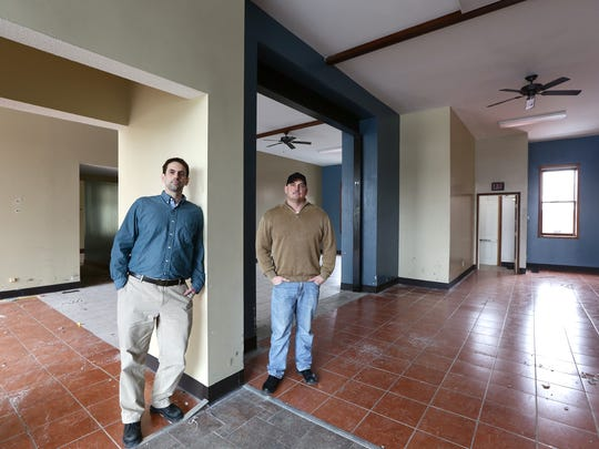 David Rose and Dan Rzeppa in their space downtown that they are currently rehabbing.
