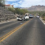A Pima County Sheriff's Department deputy sustained minor injuries after a four-car collision late Saturday afternoon, officials said.