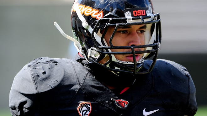 Oregon State's Rommel Mageo is the most experienced linebacker on the Beavers' roster.
