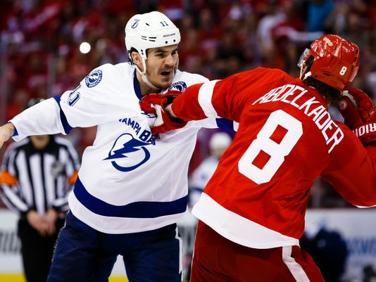 NHL: Stanley Cup Playoffs-Tampa Bay Lightning at Detroit Red Wings