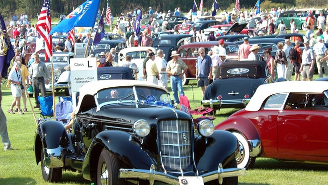 Attendees checked out the classic cars at last year's Concours d'Elegance.