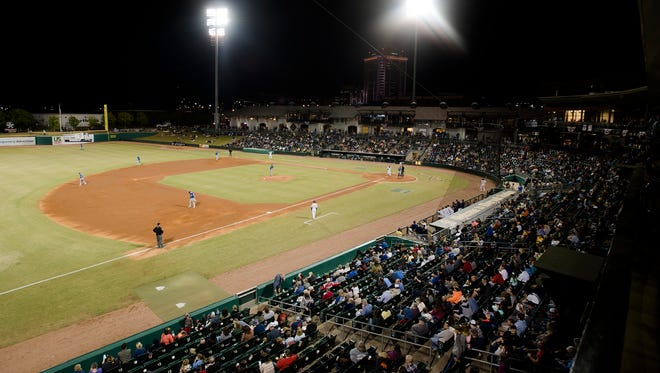 A view of the Montgomery Biscuits season home opener against the Biloxi Shuckers on Thursday, April 5, 2018.