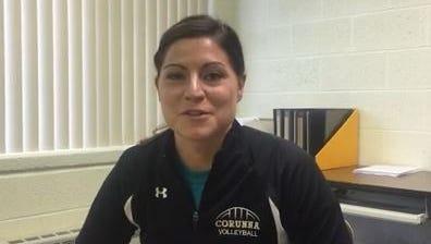Corunna volleyball coach Kari Carnell.