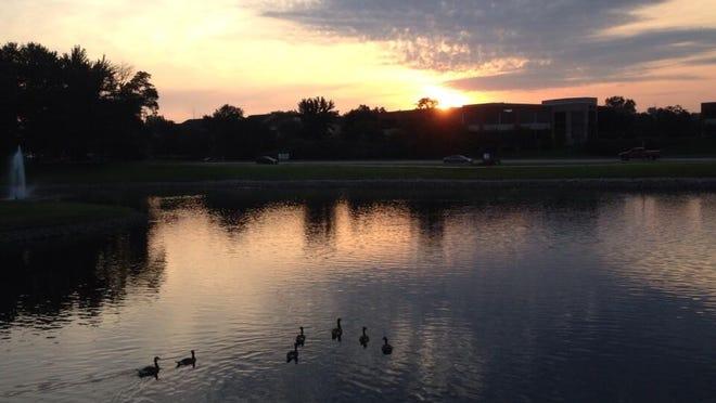 Sun rises Monday.
