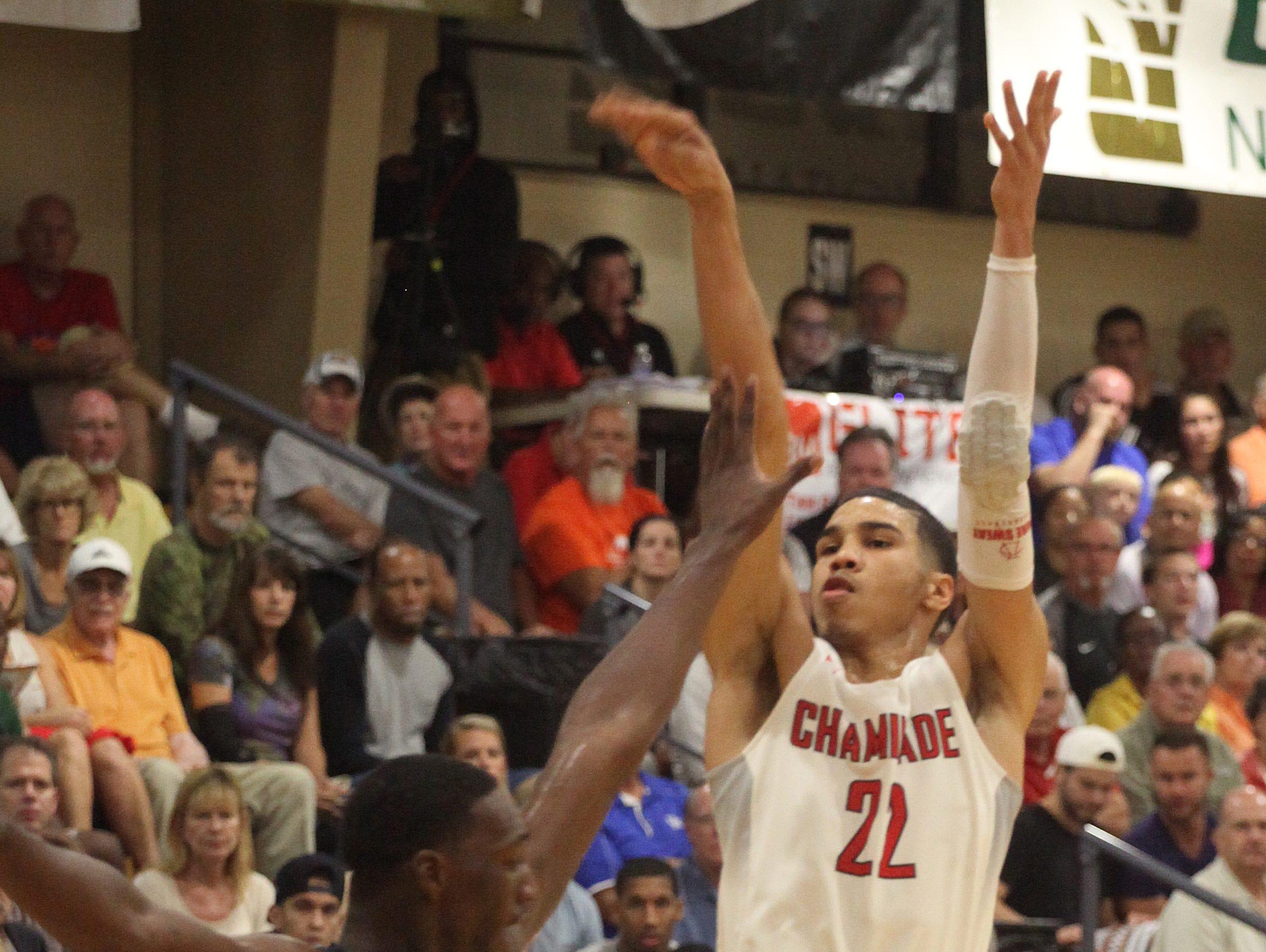 Chaminade senior Jayson Tatum accepted a basketball scholarship and signed with Duke.