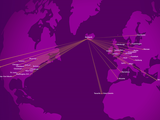 Wow Air route map