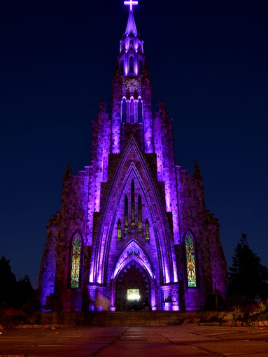 Located in the Brazilian city of Canela, the                                                          Cathedral of                                                          Our L