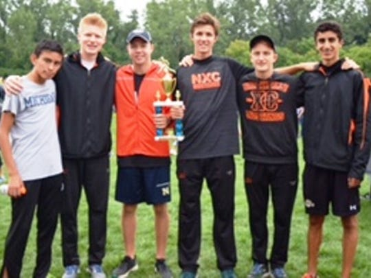 The Northville boys cross country team took third in