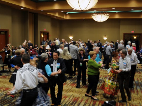 A convention of square dance callers was held in Albuquerque, New Mexico. Callers attending the convention came from far and wide, including Canada, Germany, Japan and more.