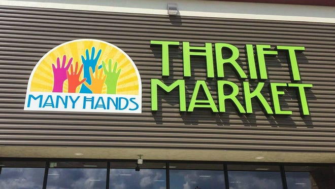 Many Hands Thrift Market in Grimes sells gently used clothing, furniture and other items. The shop's proceeds are used to support missions in Haiti.