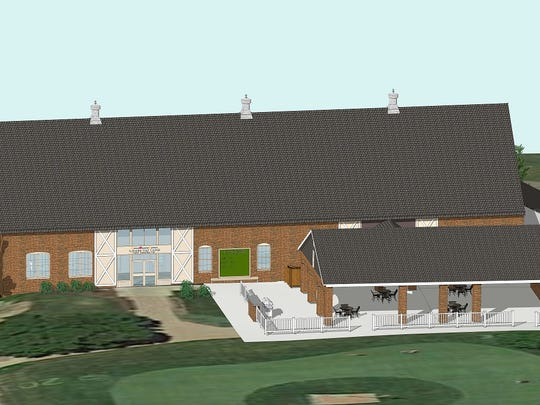 This is a conceptual rendering of an open air pavilion that will be added to the Glenview clubhouse later this year.