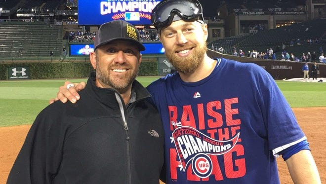 Trevecca baseball coach Ryann Schmalz and Chicago Cubs outfielder Ben Zobrist, a Franklin resident and MVP of the World Series, have been close friends since they were in college.