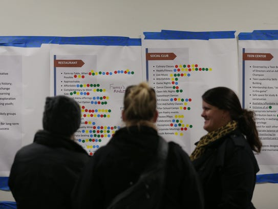 Residents of Earlham take a look at some of the plans