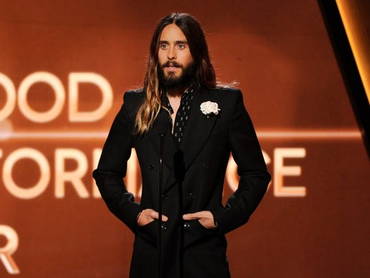 Jared Leto speaks on stage at the Hollywood Film Awards