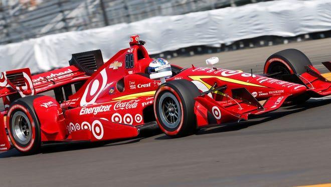 Verizon Indy Car Series driver Scott Dixon (9) during practice at Watkins Glen International.