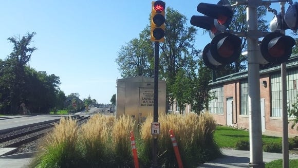 The new bike/bus lane at Laurel St. and Mason St. in Fort Collins will include the city's first dedicated bike signal, directing cyclists when to proceed.
