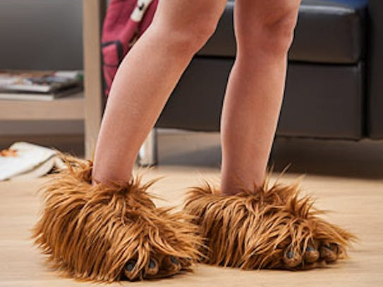 These Chewbacca slippers ($29.99) are officially Star