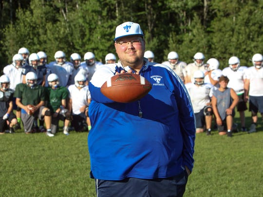 Coach Eric Bushey, seen in his August 2016 file photo, leads Missisquoi into its first playoff game this Saturday at Mill River.