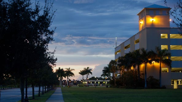 The parking structure at City Center in Port St. Lucie